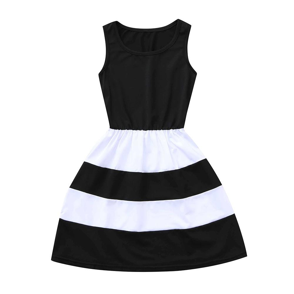 Mommy Me Black and White Striped Dresses Clothing My Moppet Shop Black S United States