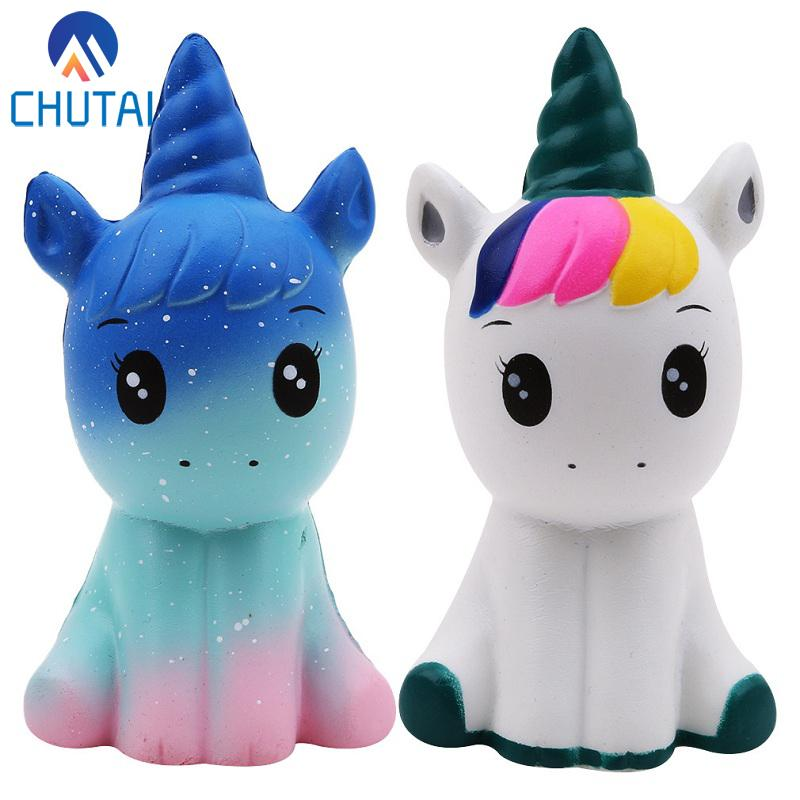 Jumbo Kawaii Colorful Galaxy Unicorn Squishy Doll Slow Rising MJJ Source
