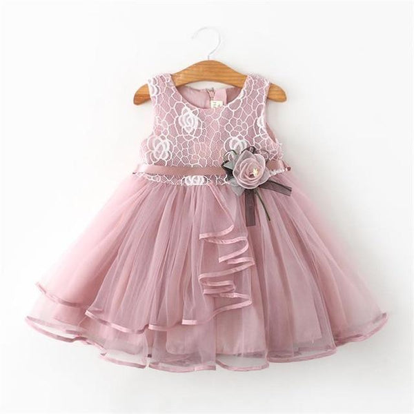 Girls Dress Princess Dress Tutu 2-6 Years Pink Children Dresses Pink Clothing MJJ Source