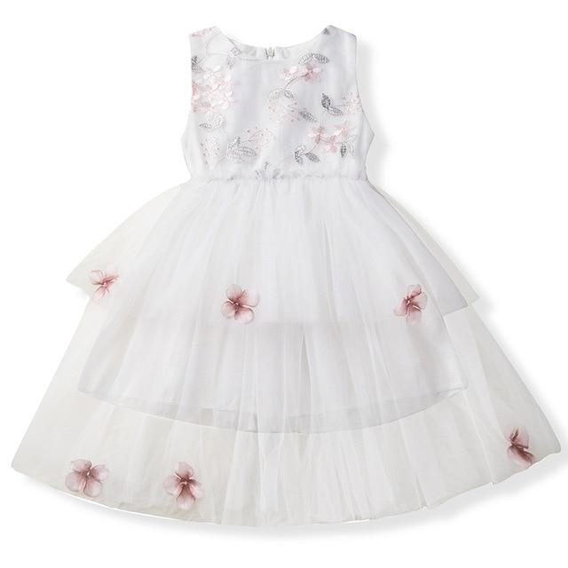 Girls Dress Princess Dress Tutu 2-6 Years Pink Children Dresses Pink Clothing MJJ Source As picture 8 3T