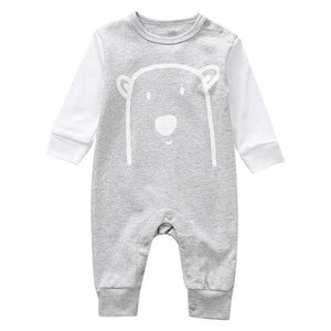 Newborn Infant Baby Boy Girl Cute Animal Cotton Romper Jumpsuit Clothes Clothing MJJ Source Gray 3M China