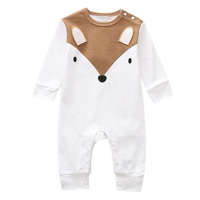Newborn Infant Baby Boy Girl Cute Animal Cotton Romper Jumpsuit Clothes Clothing MJJ Source White 18M China