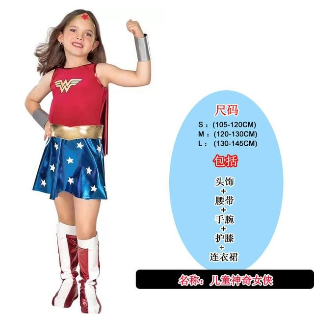 Kids Costumes With Mask and Cloak Clothing MJJ Source Wonder Woman New S