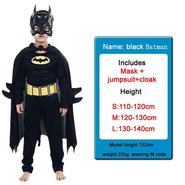 Kids Costumes With Mask and Cloak Clothing MJJ Source Batman Black S