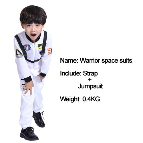 Kids Costumes With Mask and Cloak Clothing MJJ Source Space suit white S