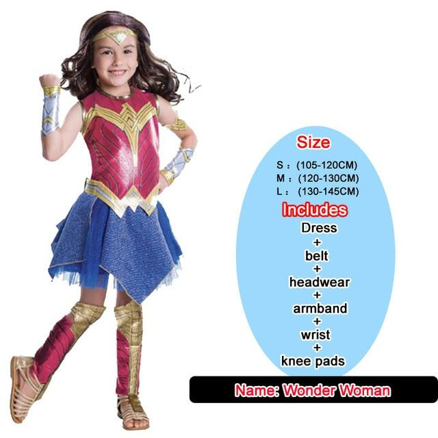 Kids Costumes With Mask and Cloak Clothing MJJ Source Wonder Woman S