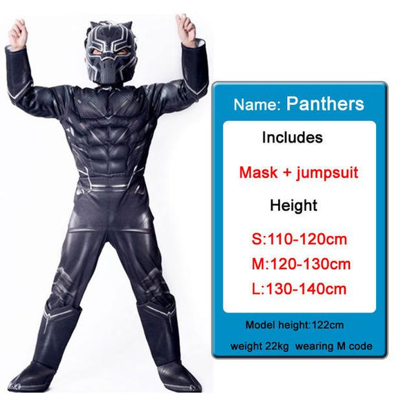Kids Costumes With Mask and Cloak Clothing MJJ Source Black panther 2 S