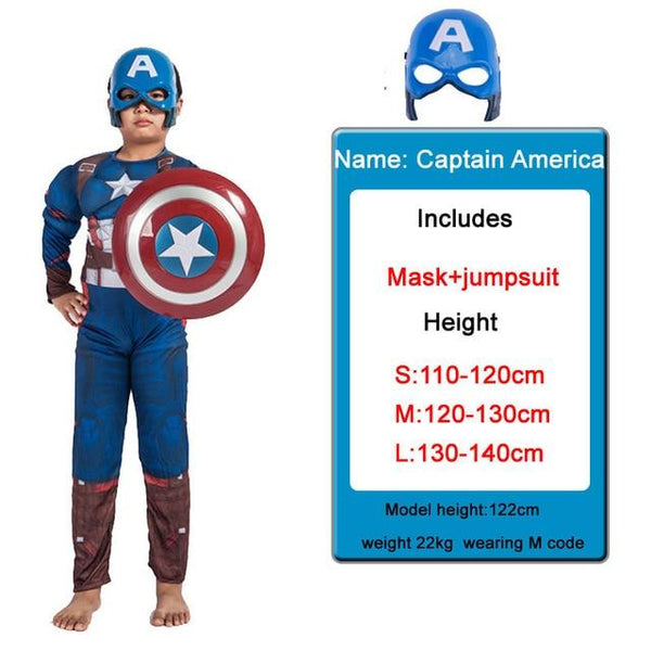 Kids Costumes With Mask and Cloak Clothing MJJ Source Captain America S