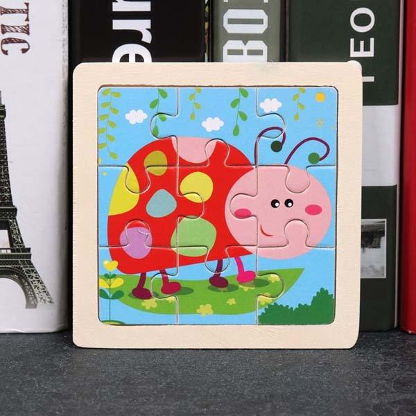 Montessori Toys Educational Wooden Toys for Children Early Learning Puzzle Kids Exercise Intelligence Animal Match Teaching Aids MJJ Source 007
