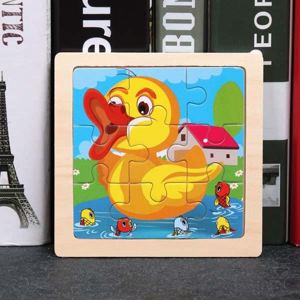 Montessori Toys Educational Wooden Toys for Children Early Learning Puzzle Kids Exercise Intelligence Animal Match Teaching Aids MJJ Source 009