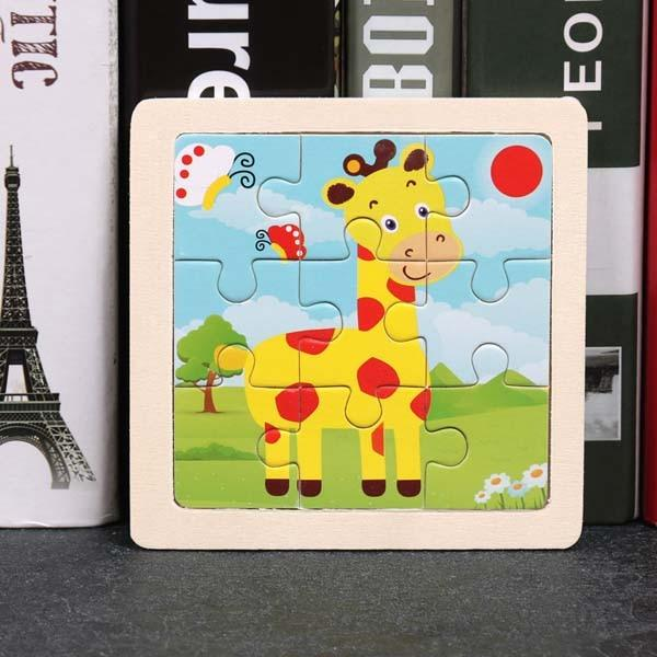 Montessori Toys Educational Wooden Toys for Children Early Learning Puzzle Kids Exercise Intelligence Animal Match Teaching Aids MJJ Source 011