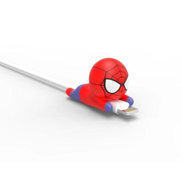 Cable Bite Protector for for Iphone cable Winder Phone holder Accessory chompers hero model funny Accessories My Moppet Shop Spiderman