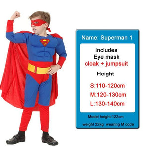 Kids Costumes With Mask and Cloak Clothing MJJ Source Superman S