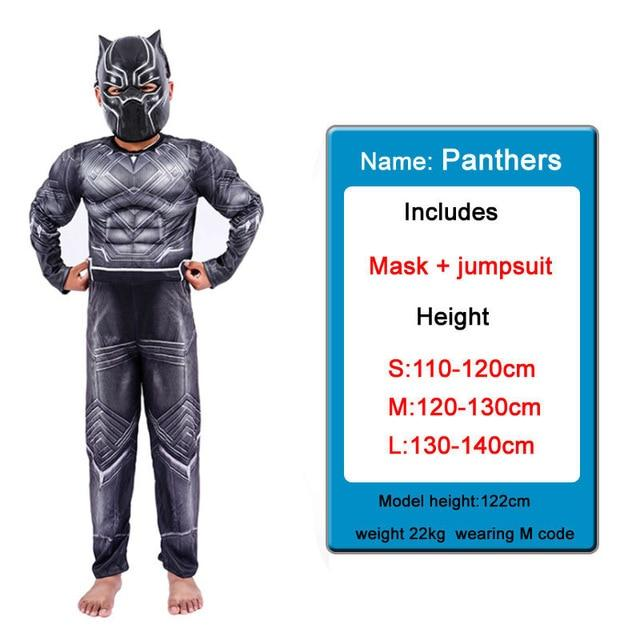 Kids Costumes With Mask and Cloak Clothing MJJ Source Black panther 1 S