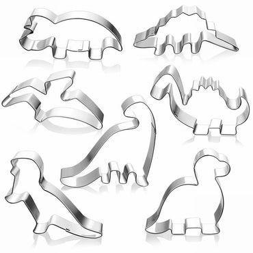 Stainless Steel Dinosaur Cookie Cutter Biscuit Mould Fondant Cake Mold Sugar Craft Set Jurassic 3D Pastry Cookie Cake Baking Tools Accessories My Moppet Shop