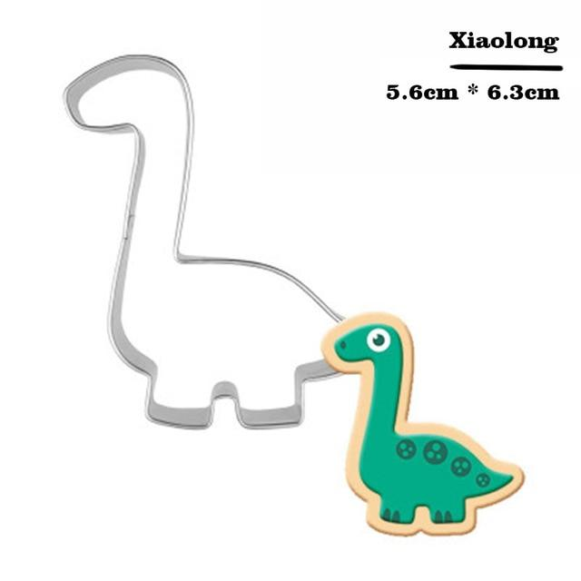 Stainless Steel Dinosaur Cookie Cutter Biscuit Mould Fondant Cake Mold Sugar Craft Set Jurassic 3D Pastry Cookie Cake Baking Tools Accessories My Moppet Shop Light Yellow