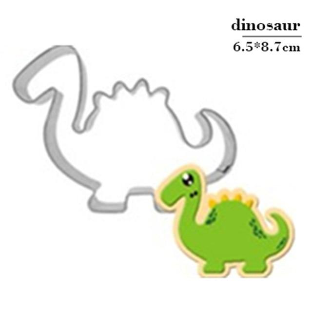 Stainless Steel Dinosaur Cookie Cutter Biscuit Mould Fondant Cake Mold Sugar Craft Set Jurassic 3D Pastry Cookie Cake Baking Tools Accessories My Moppet Shop Plum