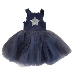 Girls Tutu Dresses White Pink Gray Black Star Clothing MJJ Source Black 3T
