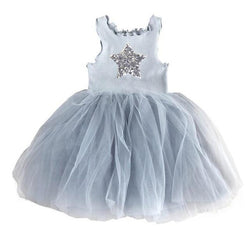 Girls Tutu Dresses White Pink Gray Black Star Clothing MJJ Source Gray 3T