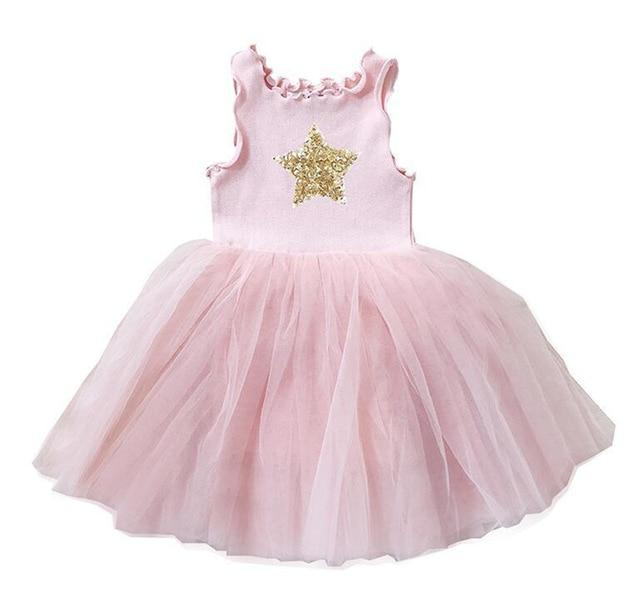 Girls Tutu Dresses White Pink Gray Black Star Clothing MJJ Source Pink 3T