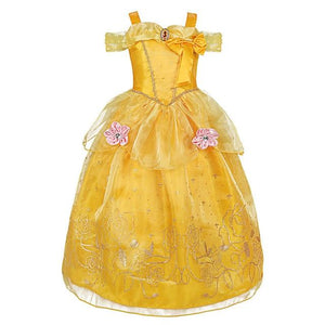 Assorted Princess Girly Dress-up Costumes (including Jasmine Aurora Belle Ana Elena Sofia Unicorn Mini)) Clothing MJJ Source Belle 2T