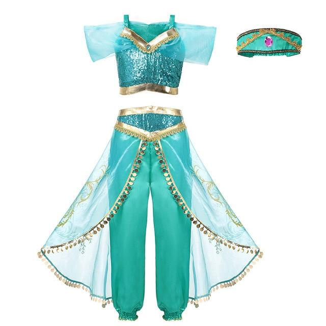 Assorted Princess Girly Dress-up Costumes (including Jasmine Aurora Belle Ana Elena Sofia Unicorn Mini)) Clothing MJJ Source Jasmine 2T