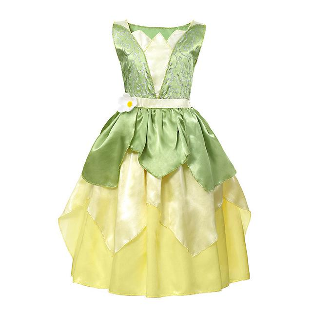 Assorted Princess Girly Dress-up Costumes (including Jasmine Aurora Belle Ana Elena Sofia Unicorn Mini)) Clothing MJJ Source Tiana 2T