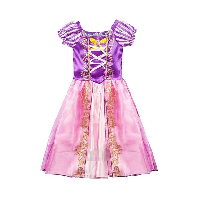 Assorted Princess Girly Dress-up Costumes (including Jasmine Aurora Belle Ana Elena Sofia Unicorn Mini)) Clothing MJJ Source Rapunzel-B 9