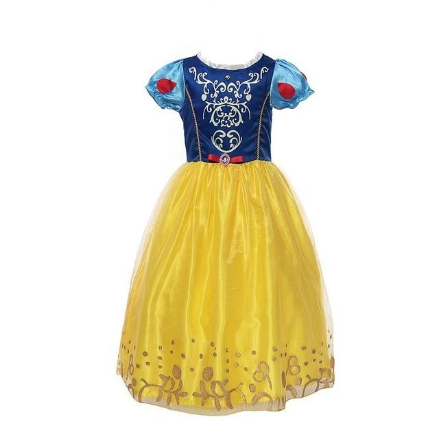 Assorted Princess Girly Dress-up Costumes (including Jasmine Aurora Belle Ana Elena Sofia Unicorn Mini)) Clothing MJJ Source Snow White-C 9