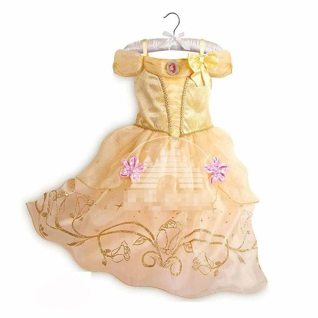Assorted Princess Girly Dress-up Costumes (including Jasmine Aurora Belle Ana Elena Sofia Unicorn Mini)) Clothing MJJ Source Belle-C 9