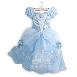 Assorted Princess Girly Dress-up Costumes (including Jasmine Aurora Belle Ana Elena Sofia Unicorn Mini)) Clothing MJJ Source Cinderella-B 9