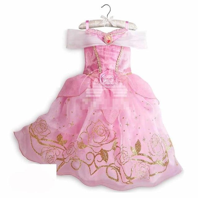 Assorted Princess Girly Dress-up Costumes (including Jasmine Aurora Belle Ana Elena Sofia Unicorn Mini)) Clothing MJJ Source Aurora-B 9