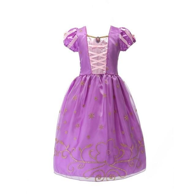 Assorted Princess Girly Dress-up Costumes (including Jasmine Aurora Belle Ana Elena Sofia Unicorn Mini)) Clothing MJJ Source Rapunzel-C 9