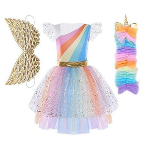 Assorted Princess Girly Dress-up Costumes (including Jasmine Aurora Belle Ana Elena Sofia Unicorn Mini)) Clothing MJJ Source Unicorn 2T