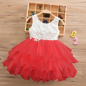 Summer Lace Girl Dress 2019 White Backless Girls Teenage Princess Dress Irregular Tutu 2-8 Years Pink Children Dresses Pink MJJ Source Red 3T United States