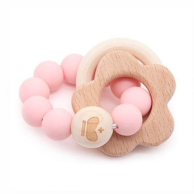 Wooden Teether Baby Bracelet Animal Shaped Jewelry Silicone Beads MJJ Source 02