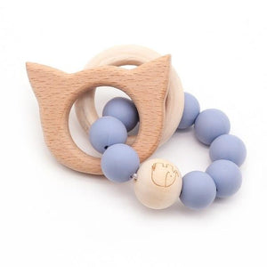 Wooden Teether Baby Bracelet Animal Shaped Jewelry Silicone Beads MJJ Source 03