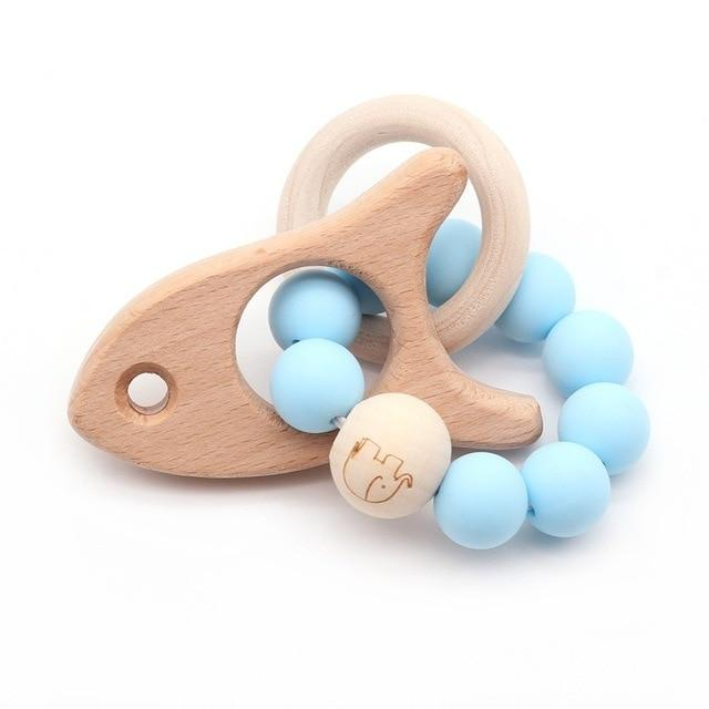 Wooden Teether Baby Bracelet Animal Shaped Jewelry Silicone Beads MJJ Source 04