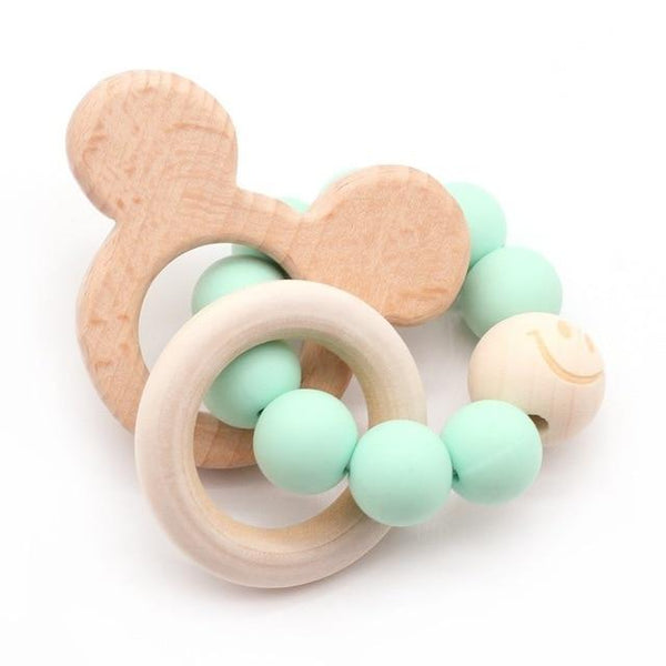 Wooden Teether Baby Bracelet Animal Shaped Jewelry Silicone Beads MJJ Source 05