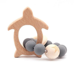 Wooden Teether Baby Bracelet Animal Shaped Jewelry Silicone Beads MJJ Source 07
