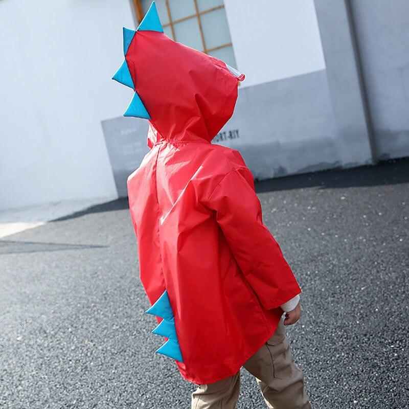 Kids Raincoat kindergarten Dinosaur poncho child toddler poncho spring and autumn 2-6 years Clothing My Moppet Shop red S