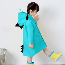 Kids Raincoat kindergarten Dinosaur poncho child toddler poncho spring and autumn 2-6 years Clothing My Moppet Shop blue S