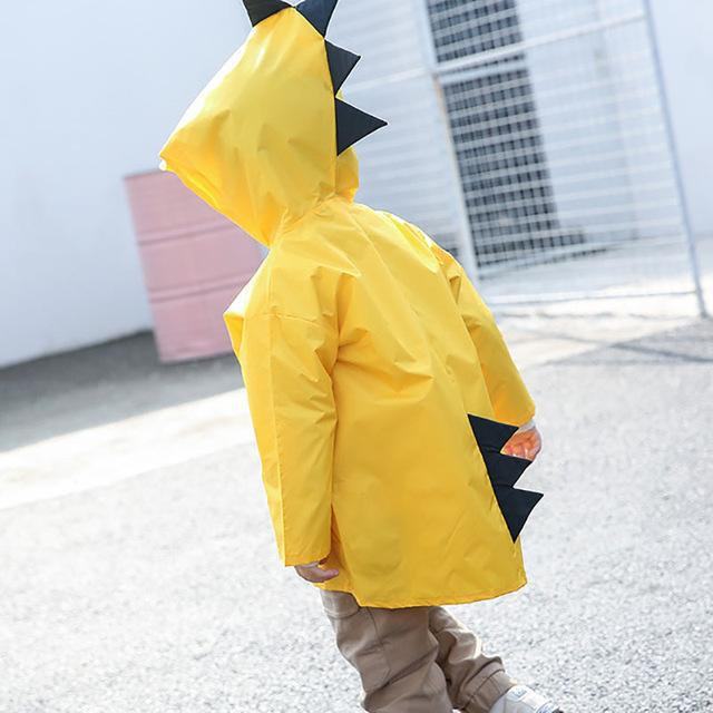 Kids Raincoat kindergarten Dinosaur poncho child toddler poncho spring and autumn 2-6 years Clothing My Moppet Shop yellow S