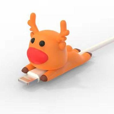 Cable Bite Protector for for Iphone cable Winder Phone holder Accessory chompers hero model funny Accessories My Moppet Shop Reindeer