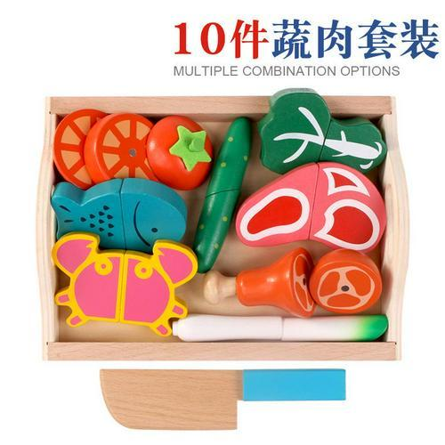 Wooden Pretend Play Fruit Vegetable Toys Toys My Moppet Shop United States D