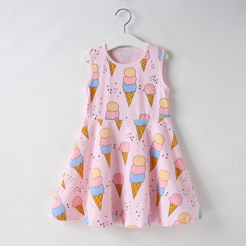 Ice Cream Print Dress Clothing My Moppet Shop