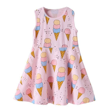 Ice Cream Print Dress Clothing My Moppet Shop Pink 24M United States