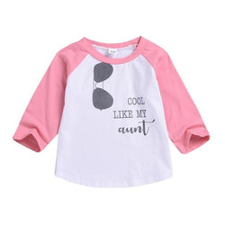 Toddler Kids Cool Like My Aunt T-shirt Clothing MJJ Source Pink 24M United States