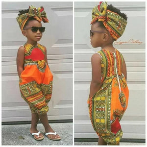 2019 New Style Baby and Toddler Girls African Jumpsuit Clothes Rompers Outfit Clothing My Moppet Shop
