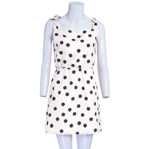 Mommy Me Matching Polka Dot Print Sleeveless Mini Dresses Clothing My Moppet Shop